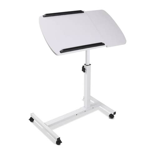 adjustable portable laptop small work desk in white buy