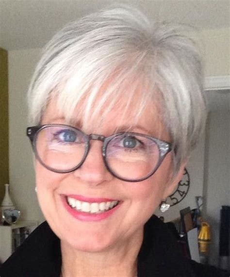 hairstyles for grey hair and glasses 191 best images about short hair glasses on pinterest