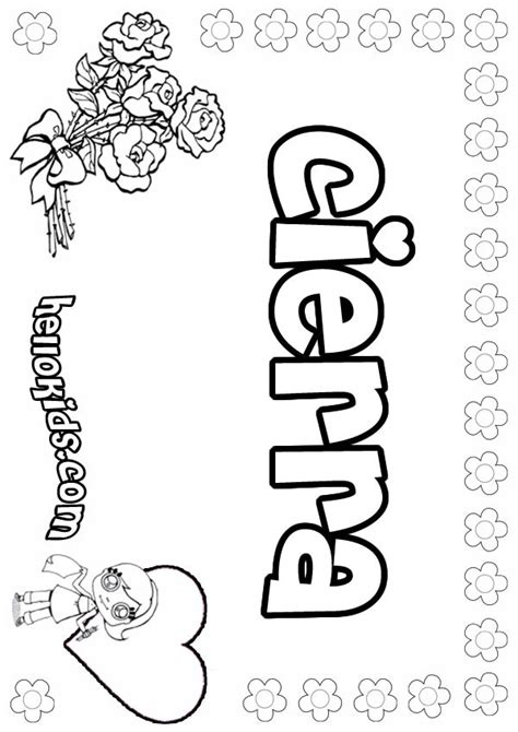 coloring pages of the name claire girls name coloring pages cierra girly name to color