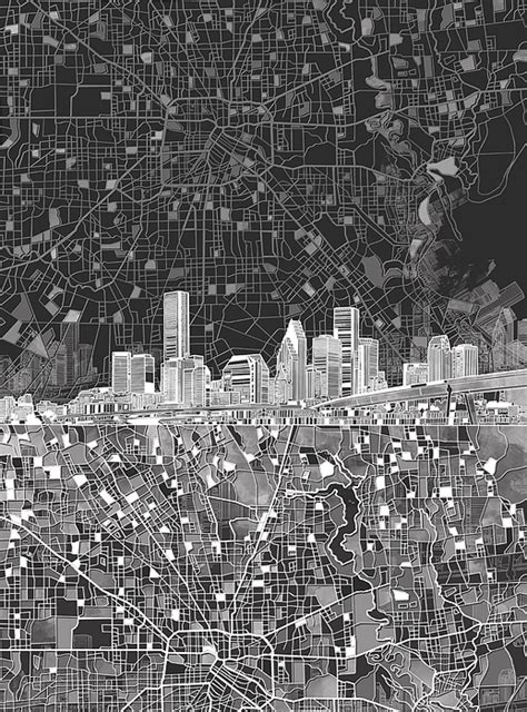 houston map black and white houston skyline map black and white shower curtain for