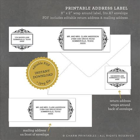 printable address labels wedding 17 best images about wedding invitation inspiration on