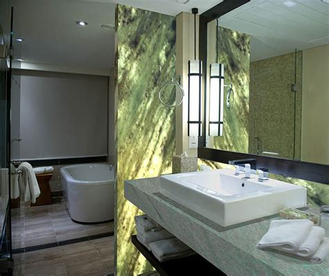 green onyx bathroom crystaline applied in bathroom