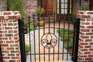Decorative Iron Gates by Decorative Residential Wrought Iron Gates Milton Fence