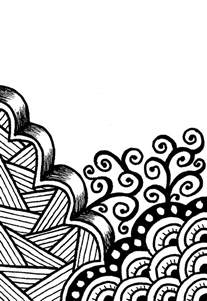 simple drawing patterns creative crafting how to zen doodle