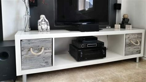 ikea hack media console 9 cool diy tv stands and consoles to make shelterness