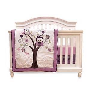 Plum Crib Bedding Buy Baby S By Nemcor 4 Plum Owl Meadow Crib Bedding Set From Bed Bath Beyond