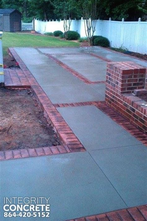 sted concrete brick border traditional patio charlotte by integrity concrete llc