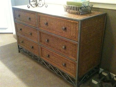 pier one wicker bedroom set pier 1 wicker metal 6 drawer dresser home pinterest