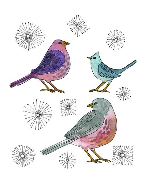 3birds studio three little birds painting by blenda studio