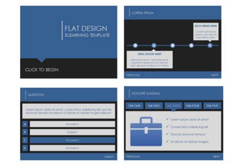Flat Design Template Downloads E Learning Heroes Thread Design Template