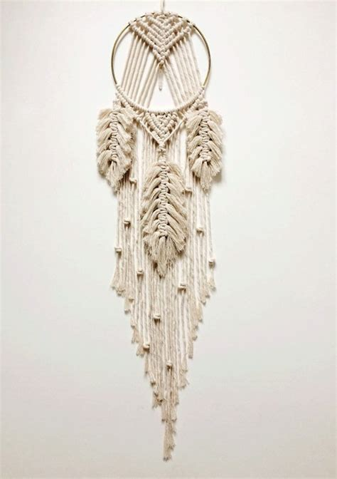 macrame dream catcher macrame catcher macrame feather hanging with