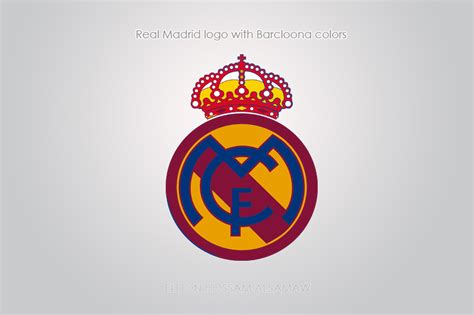 real madrid colors real madrid with barcelona color by eldonhossam
