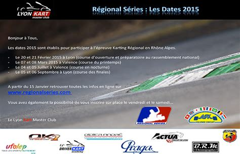 Calendrier Karting 2015 Kartcom Fr Actualit 233 S R 233 Gional Series 2015 Le