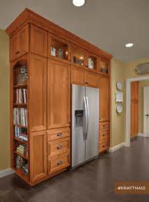 kraftmaid built in kitchen pantry transitional