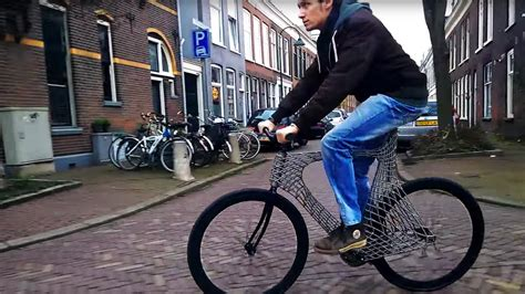 fiets van delftse studenten heeft  geprint stalen frame brightnl