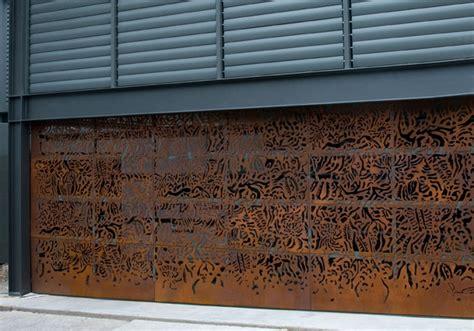 Corten Door by Corten Steel Garage Door Door
