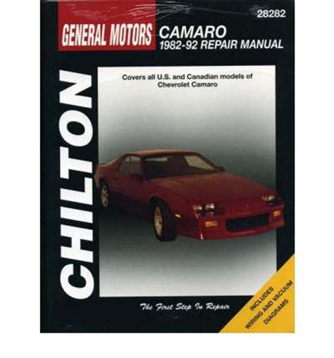 free online auto service manuals 1982 chevrolet camaro electronic throttle chevrolet camaro 1982 92 repair manual chilton