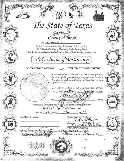 Bexar County Marriage Records Otis Mckane Suspect In Killing Got Married Hours Before His Arrest