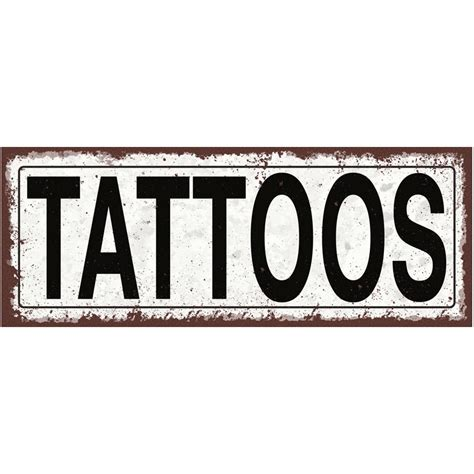 street sign tattoo tattoos metal sign