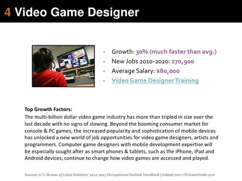 game design job outlook 4 video game designer