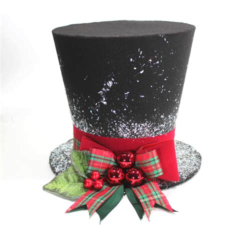 christmas traditional top hat tree topper christmas by