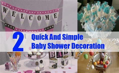 Simple Decorations For Baby Shower by And Simple Baby Shower Decoration Easy And Cheap