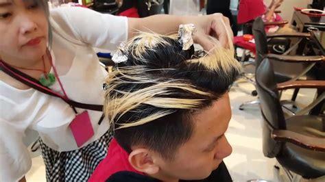 tutorial  mewarnai rambut cowok youtube