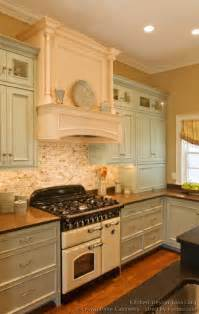 Vintage Kitchen Backsplash Pictures Of Kitchens Traditional Two Tone Kitchen