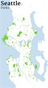 Seattle Parks Map by Mapping Seattle Streets Jim Vallandingham