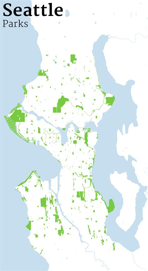 seattle parks mapping seattle streets jim vallandingham