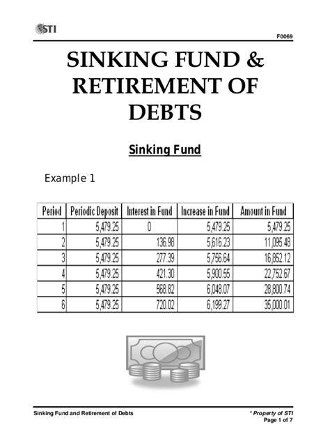 Sinking Fund by Sinking Fund Retirement Of Debts