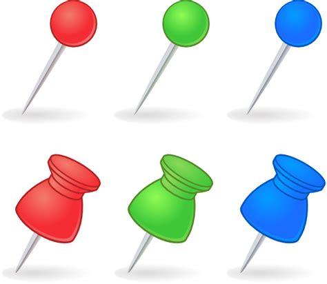 Colored Transparent Pushpins Royalty Free Pins Clip At Clker Vector Clip Royalty Free Domain