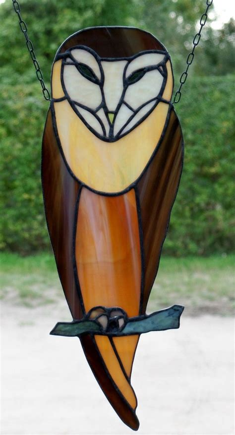 stained glass animal ls stained glass window image art nouveau owl in tiffany