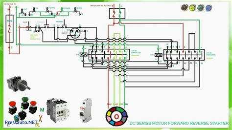 dc series motor forward starter connection and