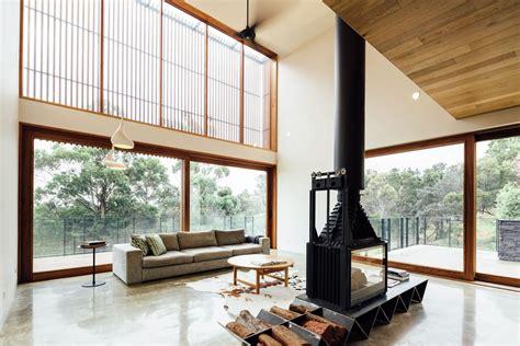 casas con chimenea dise 241 o moderna casa co dos pisos