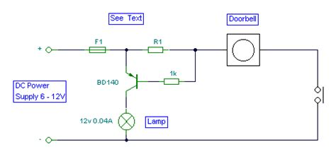 remote door bell alarm switch circuit diagram