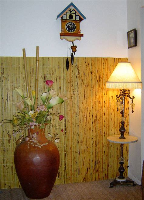 hanging bamboo wall covering