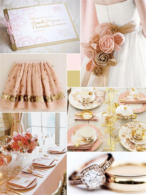 Wedding Theme Idea Pink And Gold Our One 5 by Pink Gold Wedding Colors Weddings By Lilly
