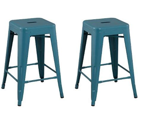 Teal Blue Counter Stools by Carlisle Metal Teal Counter Stools Everything Turquoise