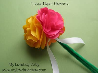 How To Make A Tissue Paper Flower Bouquet - easy tissue paper flower bouquet craft projects