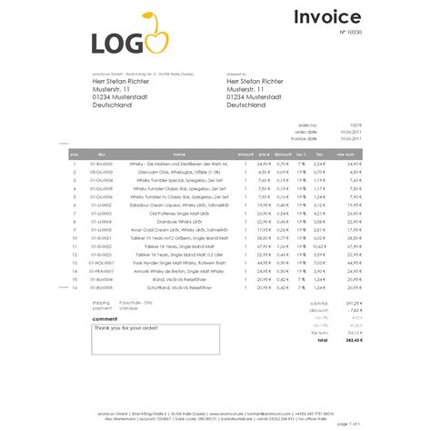 invoice pdf pro windowinvoice invoice template english