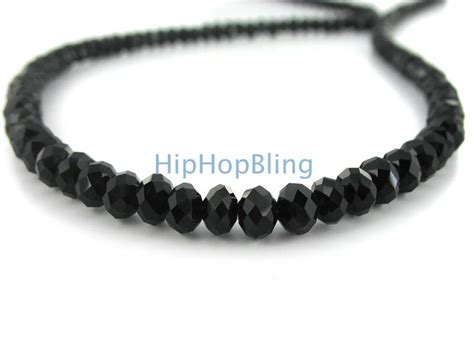 Rick Ross Style Black Diamond Solitaire Necklace   Iced Out Chains   chrrsolitaire