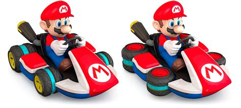 an rc mario kart with wheels that actually convert to