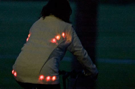 cycling jacket with lights light for life glowing button cycling jacket