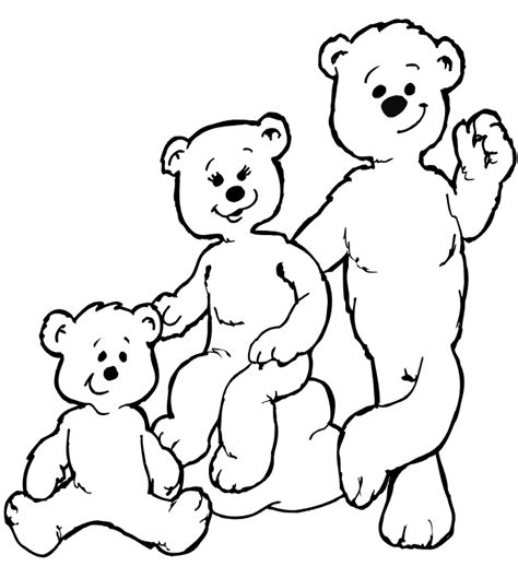 three bears coloring page goldilocks coloring page the three bears
