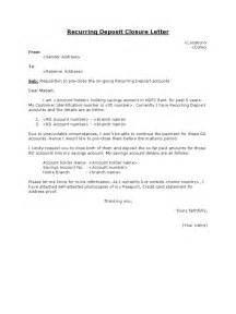 Authorization Letter For Bank Deposit Hdfc recurring deposit closure letter