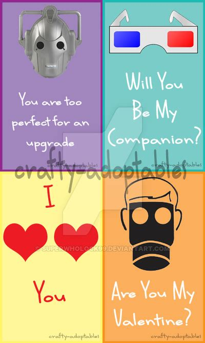 valentines cards cheap doctor who valentines cards set 2 cheap by
