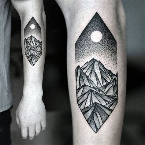 100 pointillism tattoo designs for men modern dot ideas