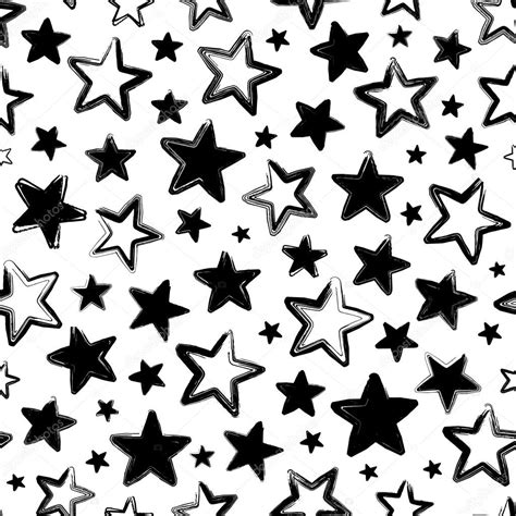 imagenes negras con estrellas patr 243 n transparente de vector con estrellas negras sobre
