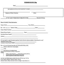 permission slips template permission form pictures to pin on pinsdaddy